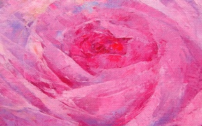 Picture rose, oil, painting, canvas, tone