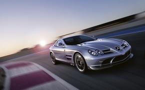 Wallpaper speed, turn, Mercedes, Mercedes