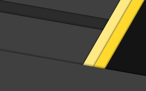 Picture line, yellow, black, geometry, design, color, material