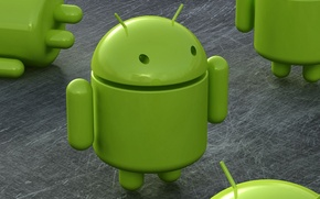 Wallpaper Android, android, robot, green