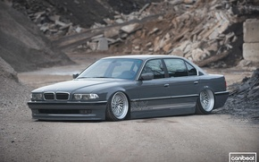 Picture bmw, BMW, jdm, tuning, germany, low, e38, stance, 740i, E38, 730i