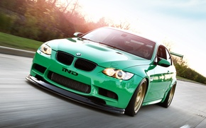 Picture car, green, green, Wallpaper, lights, tuning, bmw, BMW, car, 2011, tuning, coupe, monster, rides, e92, …