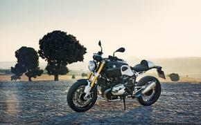 Picture the sky, landscape, BMW, moto, power, classic, NineT