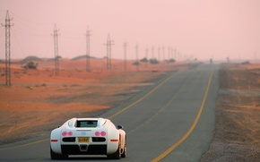Picture veyron, White, Road, centenary