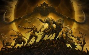 Picture Diablo 3, Demon Hunter, Witch Doctor, Barbarian, Wizard, Monk, classes, malthael