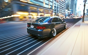 Picture the city, movement, speed, Honda, accord, stance, Acura TSX