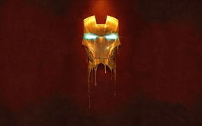 Picture metal, gold, people, mask, iron, man, liquid, iron
