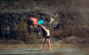 Picture paint, shorts, dance, dust, grace, stroke, Leslie Boulnois