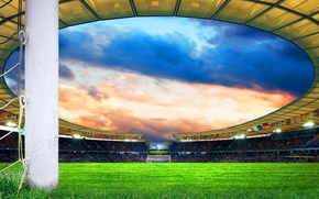 Picture Stadium, Football field, Fans