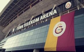 Picture wallpaper, sport, logo, stadium, football, Galatasaray SK, Turk Telekom Arena