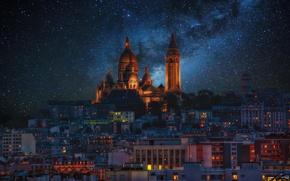 Picture night, Paris, stars, Montmartre