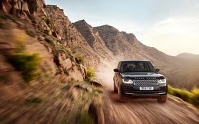 Picture in motion, earth, machine, Land Rover, Range Rover, the sky, SUV
