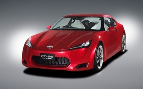 Wallpaper red, the concept, FT-86, Toyota