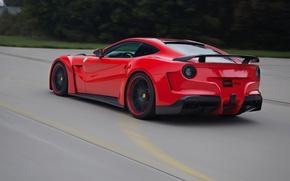 Picture Speed, Ferrari, Ass, Ferrari, Speed, Berlinetta, F12, Novitec Rosso, N-Largo