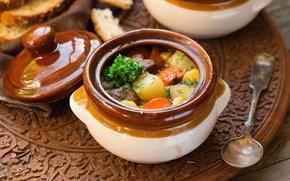 Picture vegetables, pot, hot