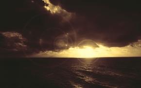 Wallpaper clouds, rays, light, nature, treatment, Wallpaper, sea, color, photo, the sky, landscape