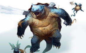 Picture Pokemon, fantasy art, Squirtle, squirtle