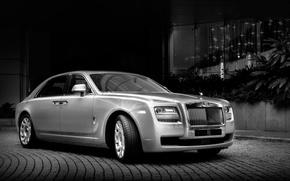Picture Rolls-Royce, twilight, Ghost, sedan, the front, Rolls-Royce, GOST