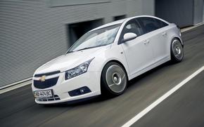 Picture auto, white, sedan, Chevrolet Cruze