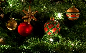Picture decoration, mood, holiday, toys, tree, garland