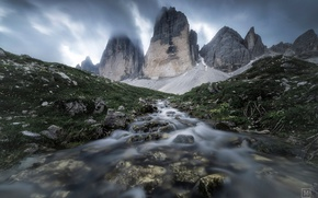 Picture mountains, nature, river, stream, stones, stream