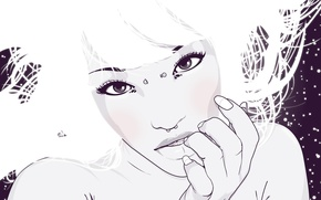 Picture white, girl, Vector