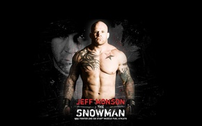 Wallpaper tattoo, fighter, black background, fighter, tattoo, muscles, mma, ufc, Jeff Monson, naked torso, jeff monson, ...