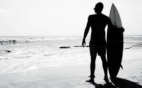 Picture beach, the sun, the ocean, sport, beauty, surfer, surfing, surf, Indonesia, Bali