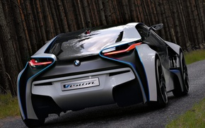 Picture machine, Concept, trees, BMW, the concept, Vision, rear view, EfficientDynamics