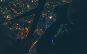 Picture night, the city, lights, photo, the building, height, the view from the top