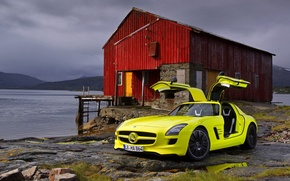 Wallpaper house, red, and, sls, amg