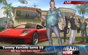 Picture Art, 2011, GTA, Tommy Vercetti, Patrick Brown, Grand Theft Auto, Vice City