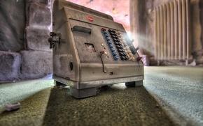 Picture macro, background, cash register