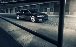 Picture Nissan, black, Nissan, frontside, Altima