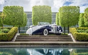 Picture Rolls-Royce, Silver, rolls-Royce, 1952, Dawn Drophead