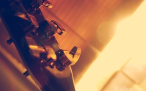 Picture macro, guitar, pick, Grif, Musical instrument