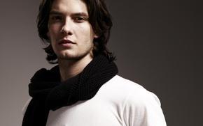 Picture scarf, actor, male, Ben Barnes, Ben Barnes