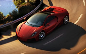 Picture track, turn, supercar, in motion, gta spano