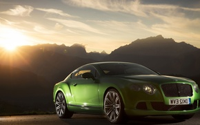 Picture Bentley, Continental, Green, Speed, (2013)