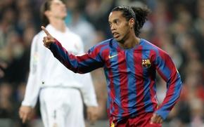 Picture football, barca, Nike, nike, football, real, Barcelona, Leopard, barcelona, Madrid, Ronaldinho, Ronaldinho, Clasico