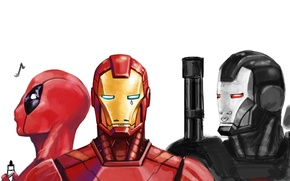 Picture Iron Man, Deadpool, Marvel, Deadpool, Wade Wilson