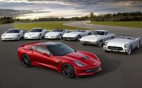 Picture Corvette, Chevrolet, Chevrolet, evolution, the front, Stingray, Corvette, Stingray