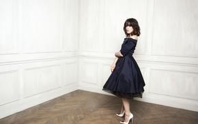 Picture girl, dress, brunette