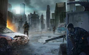 Wallpaper new York, USA, soldiers, the city, The Division