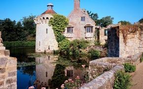 Wallpaper England, Scotney castle, Kent