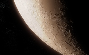 Picture space, stars, surface, the moon, satellite, craters