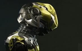 Picture background, art, helmet, Sci-fi, fantastic. armor