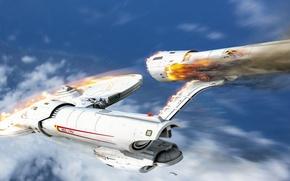 Picture crash, drop, art, enterprise, spaceship, USS, roen911, Starship, NCC-1701