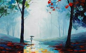 Wallpaper ART, FIGURE, ARTSAUS, WET AUTUMN DAY