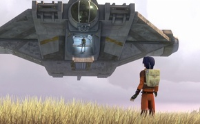 Picture animated series, Star wars: Rebels, Star Wars: Rebels, Ezra and the Ghost